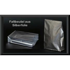 Faltbeutel aus Silberfolie, 160 x 95, 50 Stück