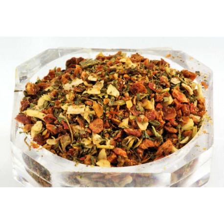 Mozzarella-Mozarella-Tomate-Gewürz